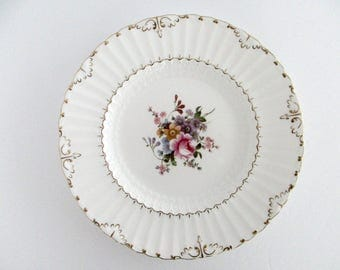 Set Of 3, Royal Crown Derby England Bone China Ashby Dinner Plates, Vintage