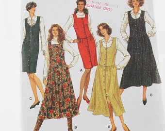 Jumper Pattern with Skirt Variations, Uncut Sewing Pattern, Simplicity 8604, Size 12-16