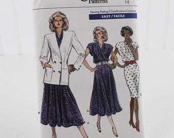 Vogue Jacket and Dress Pattern, Uncut Sewing Pattern, Vogue 7476, Size 14