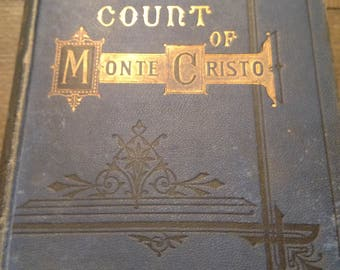 EXRARE 1871 The Count Of Monte Cristo by Alexander Dumas Edmund Dantes Revenge Clean Book