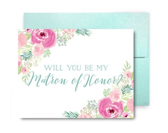 Will You Be My Bridesmaid Card, Bridesmaid Cards, Ask Bridesmaid, Bridesmaid Maid of Honor Gift, Matron of Honor, Flower Girl #CL316