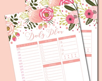 Printable Daily Life Planner, Daily Planner, Daily Schedule Planner, Daily Planner Insert, Daily Planner Printable, Hourly Planner #CLP101