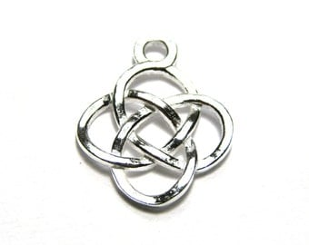 1 pc. Sterling Silver 925 Celtic Charm Pendant 13 mm