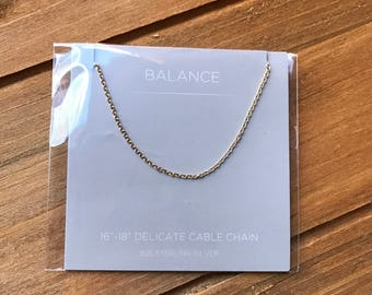 Origami Owl Delicate Sterling Silver Cable Chain