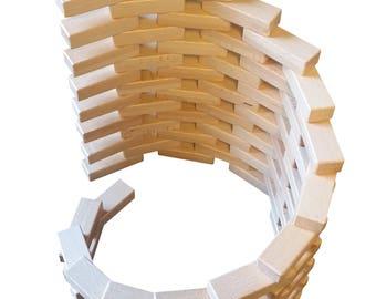 Magz Wooden Bricks 40 piece Magnetic Building Set