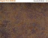 ON SALE Leaf Batik Fabric - Muted  Gold, Green & Purple Colors - Quality Cotton - 1 Yard only
