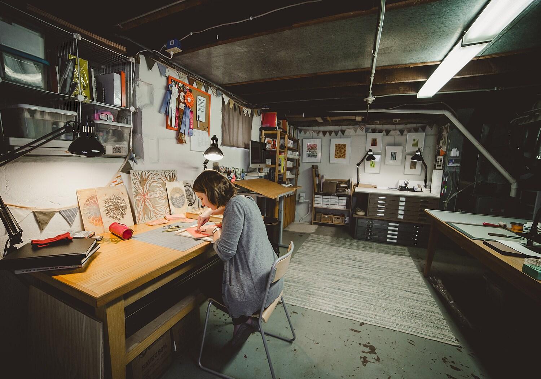 Basement print shop