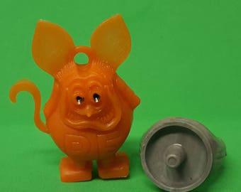 Vintage 1960s Orange RAT FINK charm Black eyes with Grayish RING