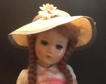 Vintage Composition mid century doll.