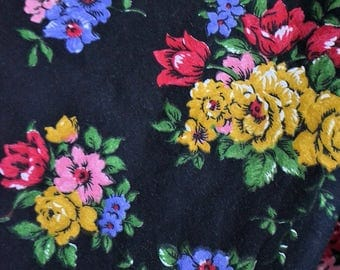 Antique french  cotton fabric, 1920s