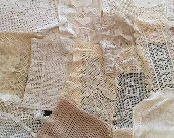 Lot of 26 Vintage Crochet Doilies - Figural