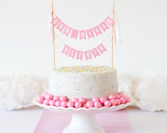 Baptism Cake Topper for Girl - Baptism Party Decorations - Personalized God Bless Cake Topper - Christening Cake Decorations