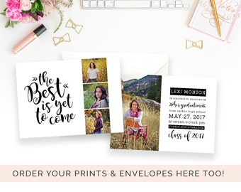 Senior Graduation Announcement | Black and White Graduation Invitation | The Best Is Yet to Come | Graduation Invitation | Modern Graduation