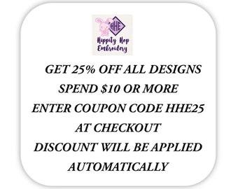 Get 25% off all designs