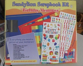 Birthday Memories Scrapbook Kit