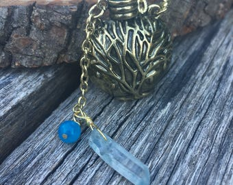 Golden Potion Bottle Necklace