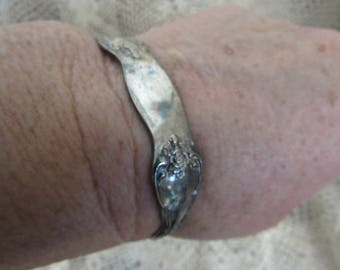 Vintage to Antique WMA Rogers Silver Plated Cuff Bracelet