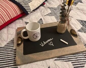 Chalkboard Tray / Decorative Serving Tray