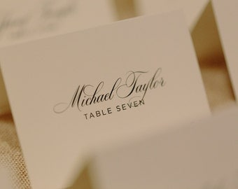 Custom Printed Wedding Place Cards: Elegant / Formal / Script