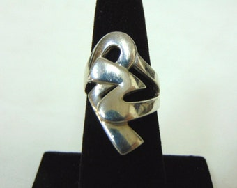 Womens Vintage Estate .925 Sterling Silver Ring 9.3g E2807