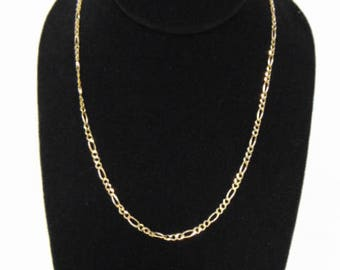 Lovely Vintage Estate 14K Yellow Gold Chain Link Necklace 9.8g E3095
