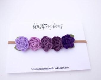 Ombre Felt Flower Crown