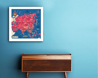 Asia pop map, Asia map, world map