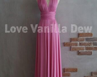 Bridesmaid Dress Infinity Dress Violet Floor Length Maxi Wrap Convertible Dress Wedding Dress