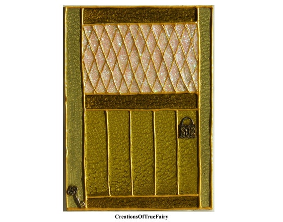 Green fairy door kids gift irish elf door birthday gift ideas for Irish fairy door ideas