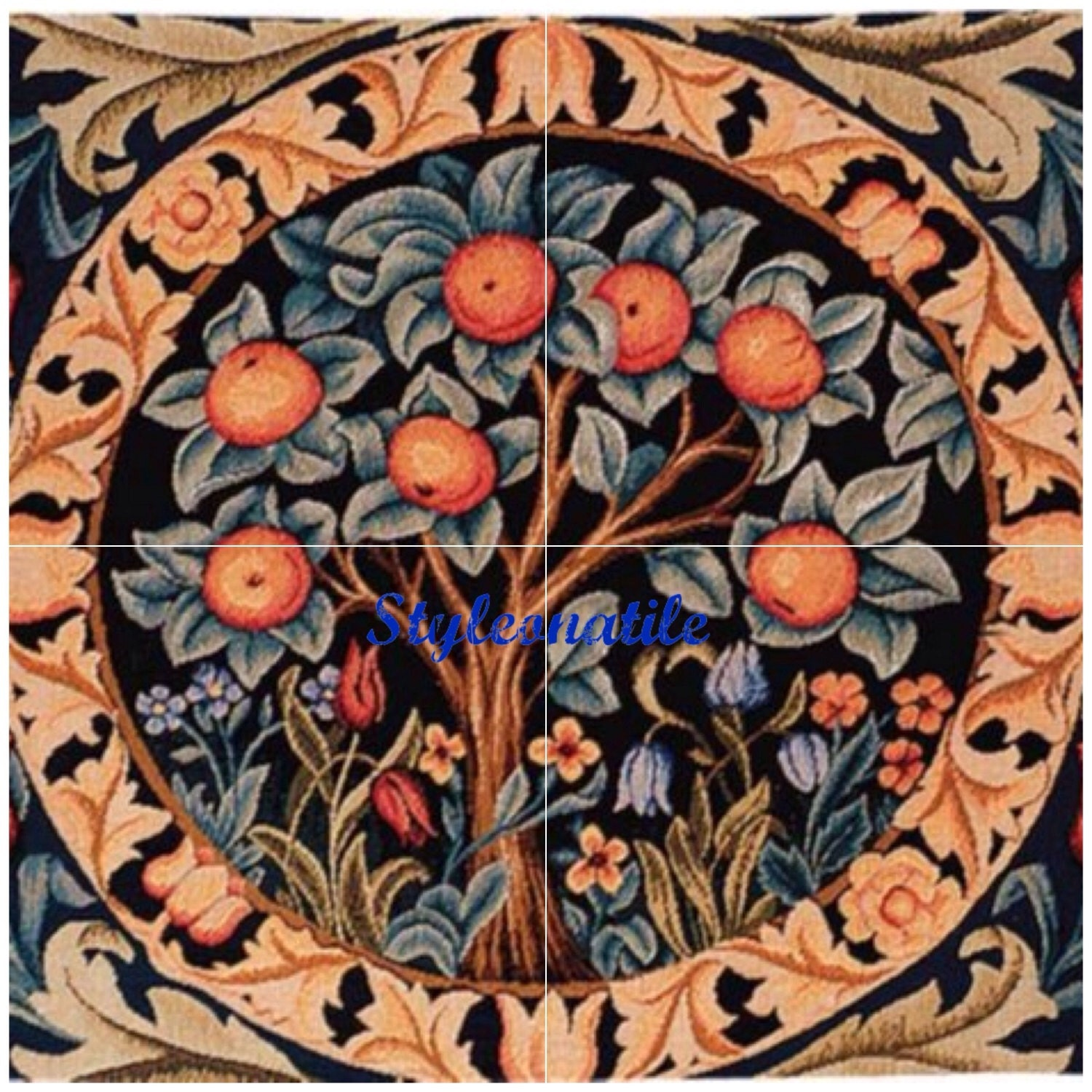 Lovely william morris orange tree 4 x 6 or 152mm ceramic tile lovely william morris orange tree 4 x 6 or 152mm ceramic tile mural mosaic wall art splash back dailygadgetfo Image collections