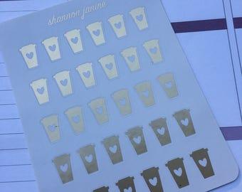 Foil Coffee Stickers