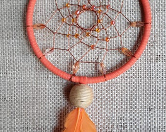 Orange dream catcher, Dream catcher, Small dream catcher