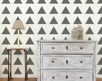 Wall Stencil Triangles Stencil in reusable mylar