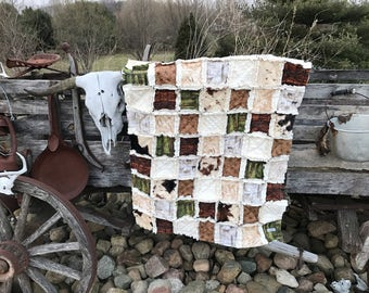 OKLAHOMA Baby Rag Quilt from the OCKBaby exclusive OKLAHOMA Nursery Collection, country western baby bedding, cowboy baby bedding