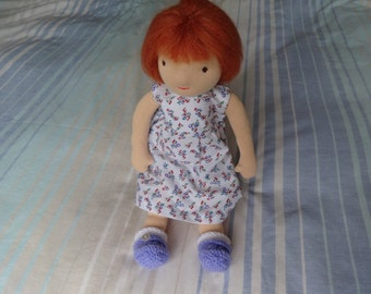 15inch girl Waldorf doll Mia has two outfits and frilly panties. Ideal Christmas gift.