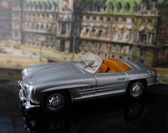 Vintage Toys, Collectible, Miniatur Schuco Car, H0, Mercedes-Benz SC 230 cabriolet, silver / Vintage Schuco Car / Mans gift