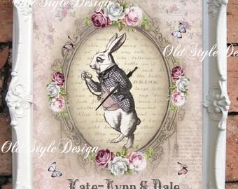 ALICE in WONDERLAND Wedding Gift Alice in Wonderland Personalized Wedding Gift Alice in Wonderland Party Mad Hatter Tea Party Wedding CA068