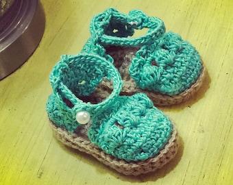 Baby Crocheted Espadrilles