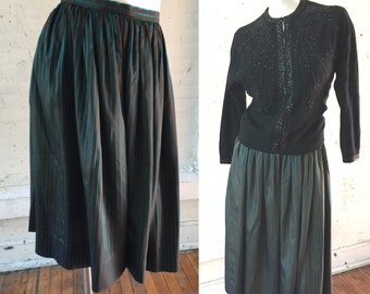 Something Elsie Vintage Multi Color Vertical Stripe Skirt