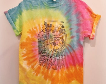 MXL Feminist Fruit Juice Tie-Dye T-Shirt