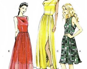 Vogue 8901 Elegant Dress with Pleated Skirt / 2013 SZ6-14 UNCUT