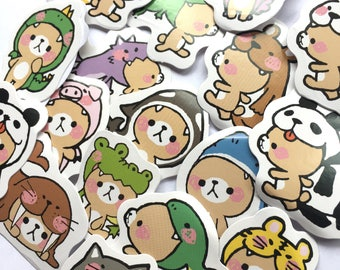 Kawaii bear sticker flakes