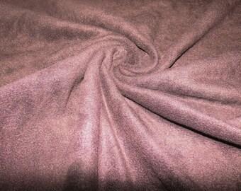 Anti-pilling fleece dark brown