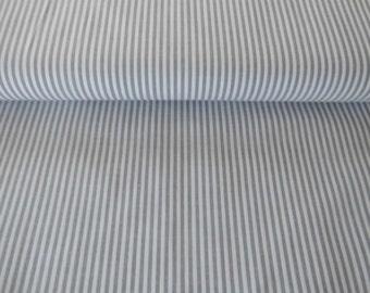 Cotton stripe grey 3mm Öko-TeX