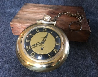 Vintage United pocket watch hanging clock