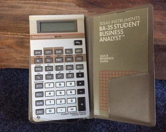 Vintage calculator Texas Instrument BA-35
