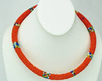 African Beautiful beaded necklace