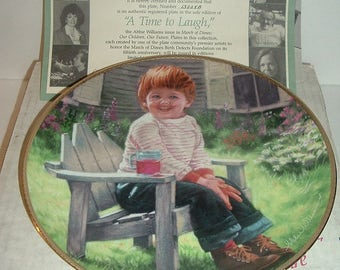 1990 A Time To Laugh March of Dimes Our Children Our Future Plate Plate w COA Box