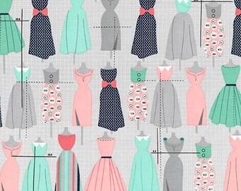 Robert Kaufman Sew Dressed Up Dress Forms Seafoam (Half metre)
