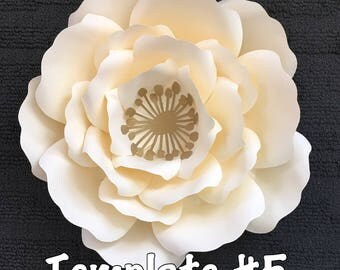 Template #5 Paper Flowers
